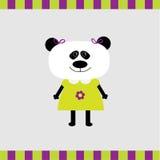 Carta della ragazza del panda del fumetto Fotografia Stock Libera da Diritti