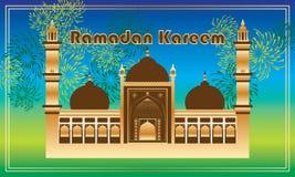 Carta della struttura del fuoco d'artificio di Ramadan Kareem India Delhi Immagini Stock