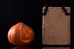 Carta della zucca di Halloween Immagini Stock Libere da Diritti