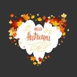 Carta delle foglie di acero di autunno Immagine Stock Libera da Diritti