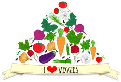 Carta delle verdure Fotografia Stock