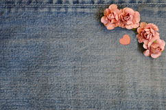 Carta di amore dei jeans Immagini Stock Libere da Diritti