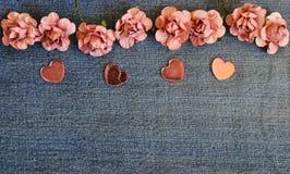 Carta di amore dei jeans Fotografie Stock