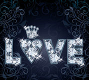 Carta di amore del diamante Fotografie Stock