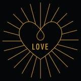 Carta di amore di San Valentino Immagini Stock