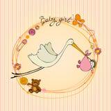 Carta di arrivo del bambino illustrazione di stock