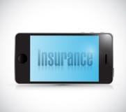 Carta di assicurazione su uno Smart Phone Illustrazione royalty illustrazione gratis