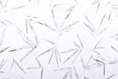 Carta di bambù del gelso con il fondo di struttura del fiore Fotografia Stock