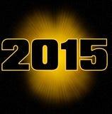 Carta di Big Bang 2015 Fotografia Stock Libera da Diritti