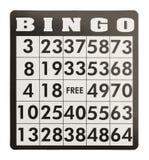 Carta di bingo Immagine Stock Libera da Diritti