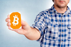 Carta di Bitcoin fotografia stock