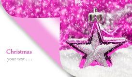 Carta di Buon Natale Fotografia Stock
