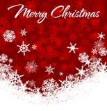Carta di Buon Natale dei fiocchi di neve illustrazione vettoriale