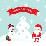 Carta di Buon Natale di vettore Immagine Stock Libera da Diritti
