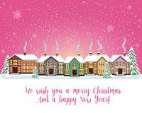 Carta di Buon Natale Illustrazione di vettore Nuovo anno felice Immagine Stock Libera da Diritti
