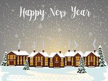 Carta di Buon Natale Illustrazione di vettore Nuovo anno felice Immagini Stock Libere da Diritti
