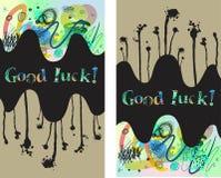 Carta di buona fortuna Fotografia Stock