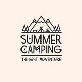 Carta di campeggio di estate Fotografia Stock Libera da Diritti