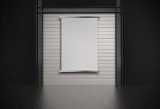 Carta di carta in bianco 3d sulla parete della composizione Fotografia Stock