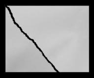 Carta di carta e lacerata strappata Fotografia Stock