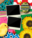 Fondo di Pasqua, disegno dell'album per ritagli Fotografia Stock