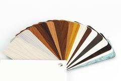 Carta di colore dei campioni di legno differenti Fotografia Stock Libera da Diritti