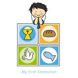 Carta di comunione Fotografia Stock