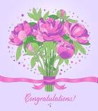 Carta di congratulazioni Immagini Stock
