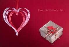Carta di congratulazioni di giorno del ` s del biglietto di S. Valentino buona Fotografie Stock