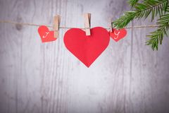 Carta di congratulazioni di giorno del ` s del biglietto di S. Valentino buona Fotografia Stock