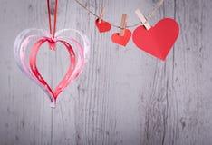 Carta di congratulazioni di giorno del ` s del biglietto di S. Valentino buona Fotografia Stock Libera da Diritti