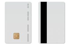 Carta di credito in bianco di EC Fotografie Stock Libere da Diritti