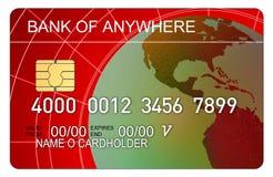 Carta di credito con il globo illustrazione vettoriale