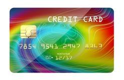 Carta di credito con la stampa variopinta Immagini Stock Libere da Diritti