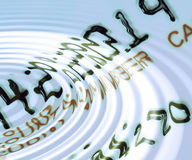 Carta di credito con le ondulazioni Fotografia Stock