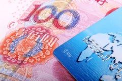 Carta di credito con RMB Fotografia Stock