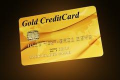 Carta di credito dell'oro Fotografie Stock Libere da Diritti
