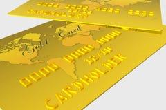 Carta assegni dell'oro Fotografia Stock Libera da Diritti
