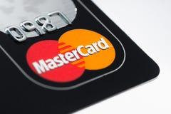 Carta di credito della Mastercard Fotografia Stock