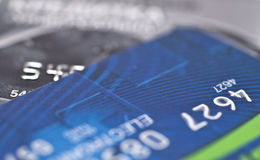 Carta di credito di plastica Immagini Stock Libere da Diritti