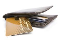 Carta di credito e raccoglitore Fotografia Stock Libera da Diritti