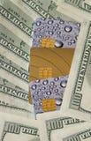 Carta di credito e soldi Fotografie Stock Libere da Diritti