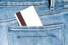 Carta di credito in tasca Immagine Stock