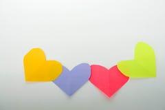 Carta di cuore per il giorno del ` s del biglietto di S. Valentino Immagini Stock
