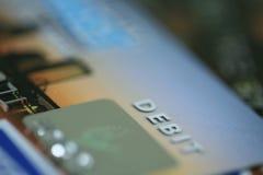 Carta di debito immagini stock