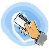 Carta di debito di accreditamento Fotografia Stock