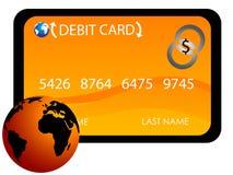 Carta di debito internazionale Fotografia Stock