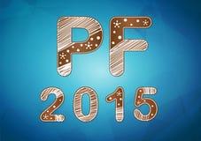 Carta di desiderio del nuovo anno 2015 Immagine Stock
