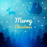 Carta di desiderio di Buon Natale Immagini Stock