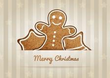 Carta di desiderio di vettore di Natale Fotografia Stock